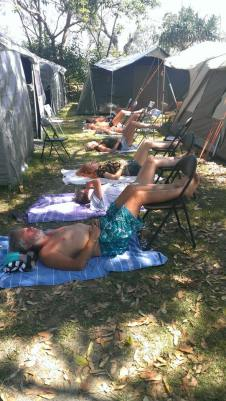 Chair yoga 2015 Straddie